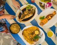 Fresh Seafood catch at Ibn Al Bahr
